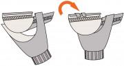 Установка водосточной воронки